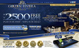 Golden Riviera Casino 1.400 € Bonus
