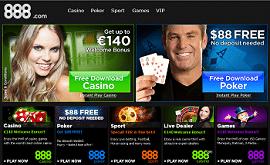 888 Casino €88 Free Bonus No Deposit