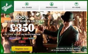Mr Green Casino €350 Bonus and 100 Free Spins