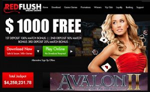 Red Flush Casino 1.000 € Free Bonus