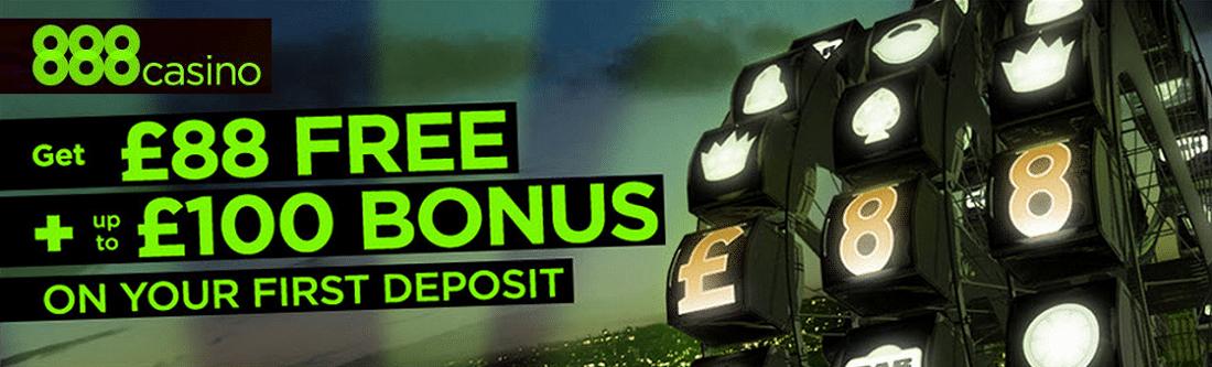 Casino 888 Free 88 € Bonus
