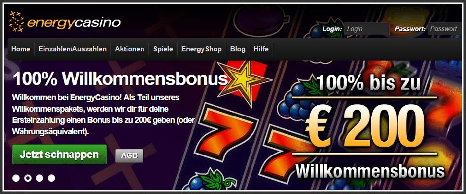 Energy Willkommens Bonus