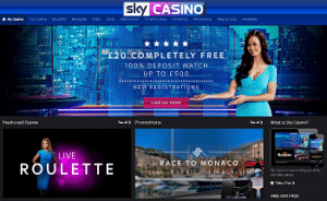 Sky Casino £10 No Deposit Bonus