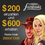 Casino Fantasia 300% Bonus Gratis