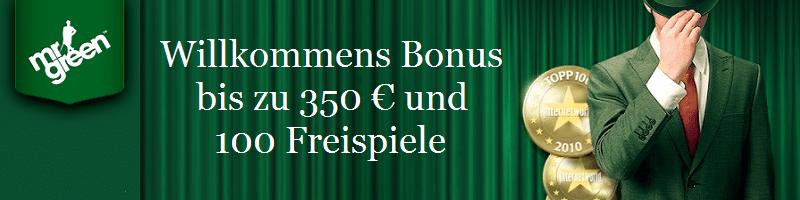 100 Free Spins Bonus Mr Green