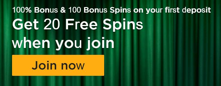 20 Free Spins No Deposit