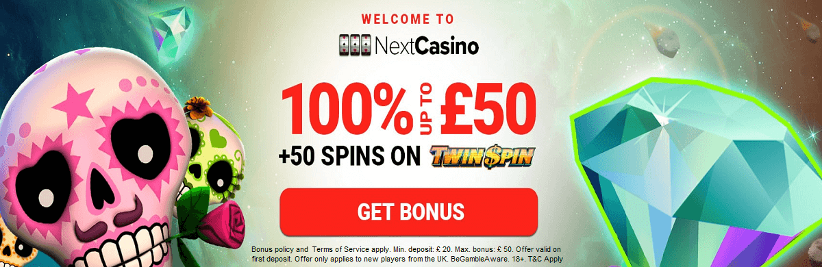 Next Casino UK Bonus