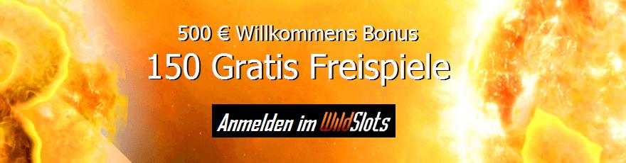 Wild Slots Casino Willkommens Bonus