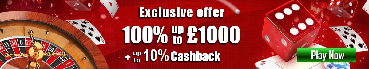 Mansion Casino UK Cash Back Bonus