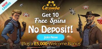 Casimba Casino UK Bonus
