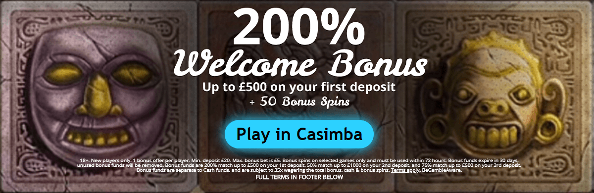 Casimba UK Welcome Bonus New