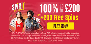 Spinit New UK Bonus Offer