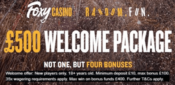 Foxy Casino UK Welcome Bonus