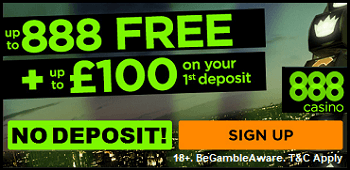 888 Casino Spin & Win No Deposit Bonus UK