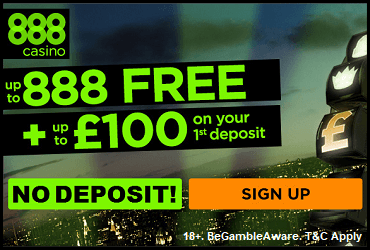 888 Casino Spin and Win No Deposit Bonus UK