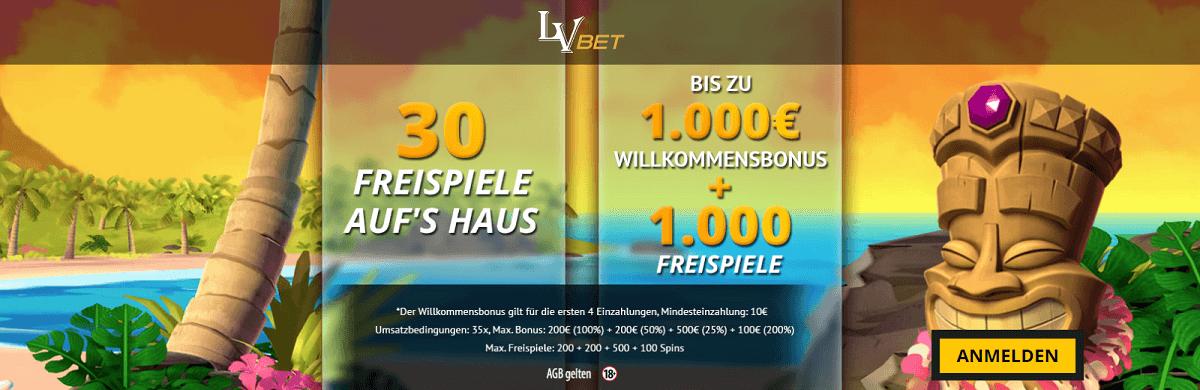 LVbet 30 Freispiele Gratis Bonus