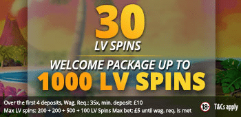 LVbet UK Free Spins No Deposit