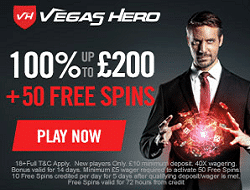 Vegas Hero Casino Bonus
