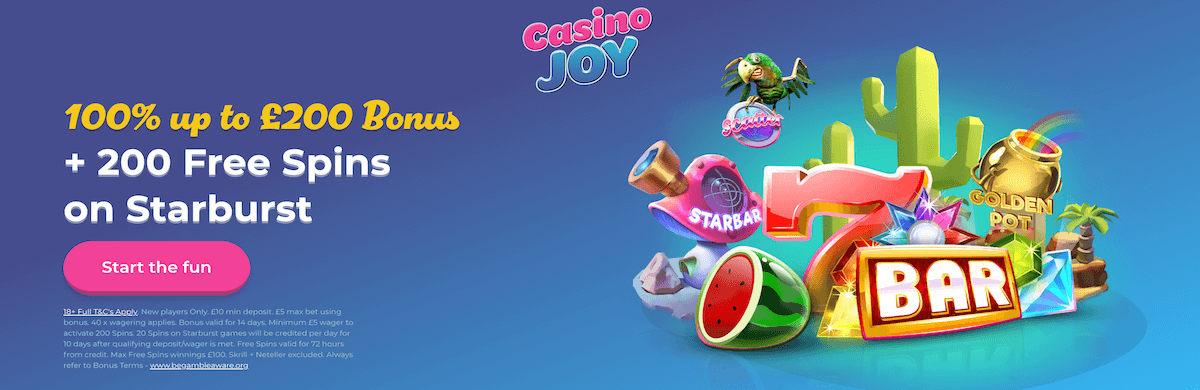 Casino Joy Welcome Bonus