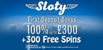 Sloty Casino UK Sign Up Bonus
