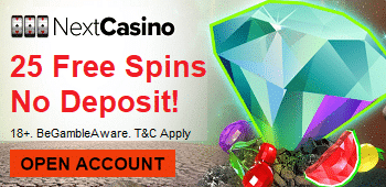 No Deposit Free Spins Next Casino