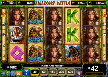 Amazons Battle Online Slot