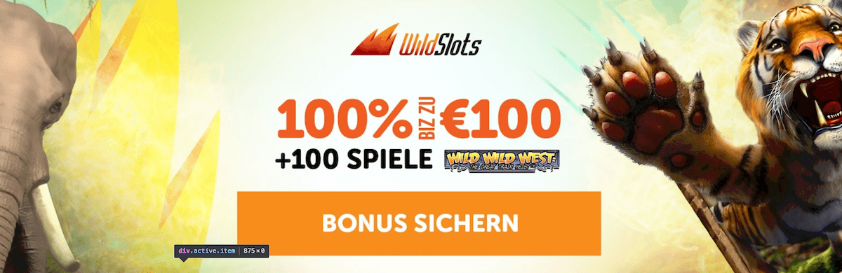 Wild Slots Willkommen Bonus