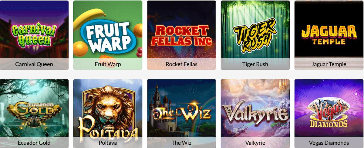 Temple Nile Casino Games