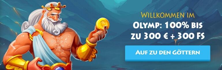 Casino Gods Willkommens Bonus
