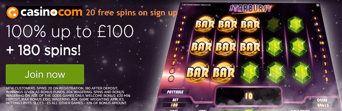 CasinoCom Welcome Bonus