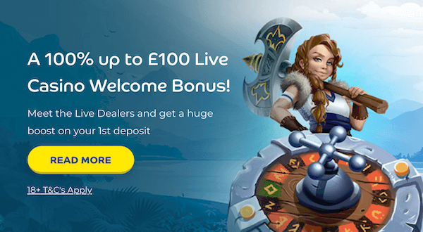 Pelaa Live Casino Bonus