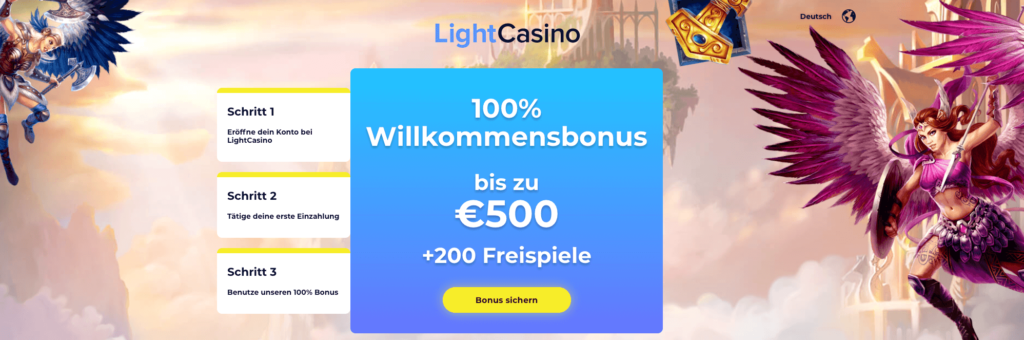 Willkommens Bonus Light Casino