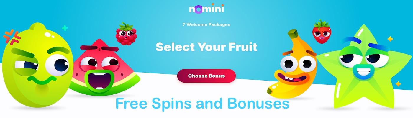Nomini Welcome Bonus