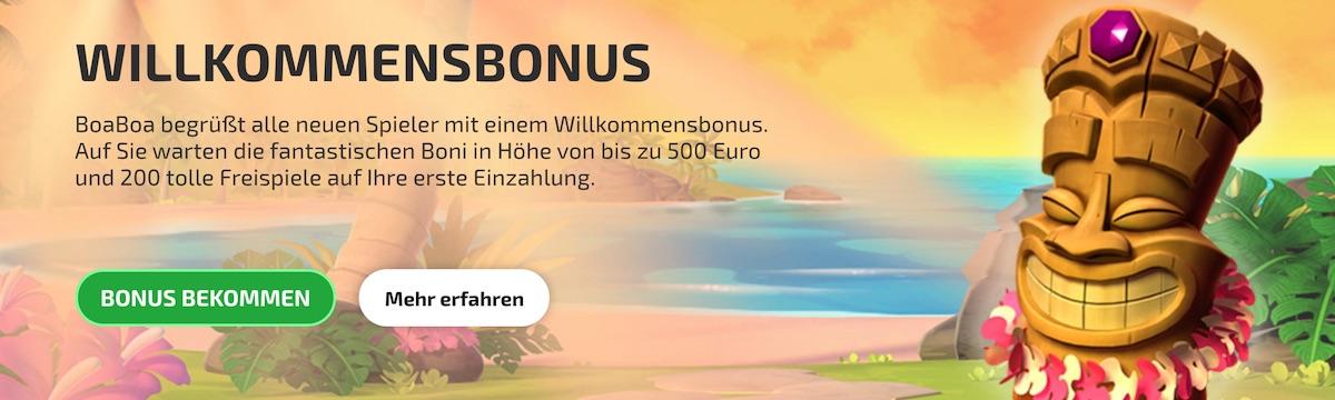 Boa Boa Willkommens Bonus